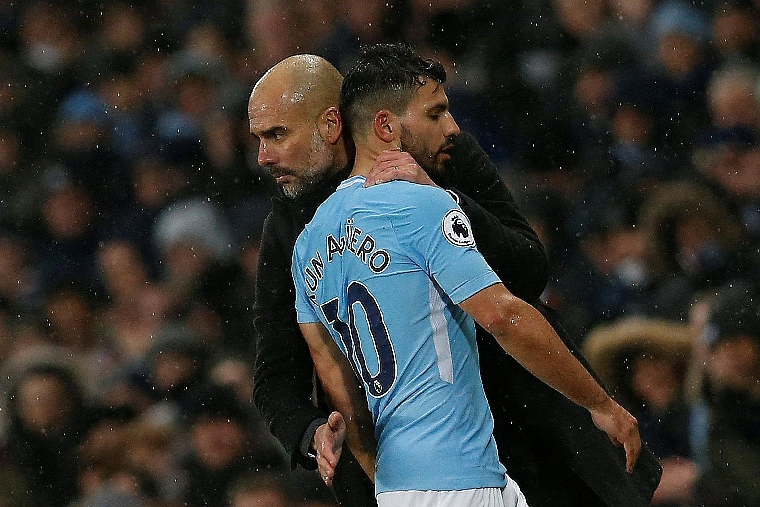 Sergio Aguero's form this season has convinced his manager Pep Guardiola that he is capable of more than just scoring goals.