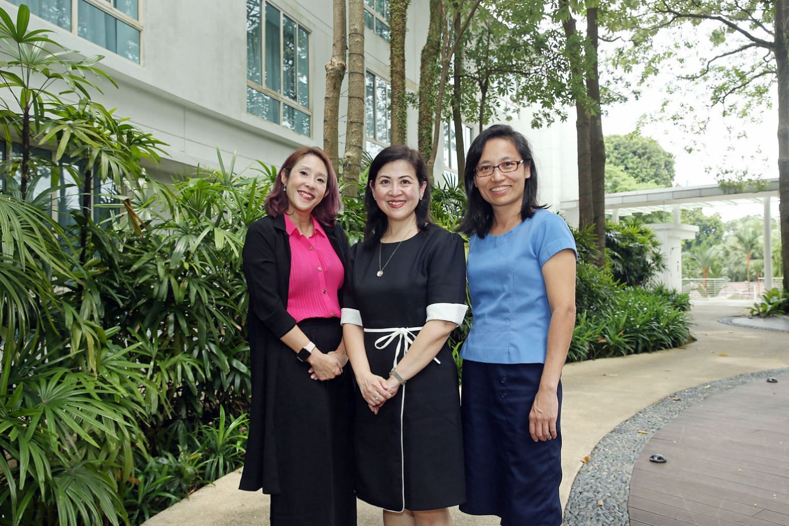 Head of Duke-NUS Medical School's Centre for Clinician-Scientist Development Koh Woon Puay (centre), who founded a year-long professional leadership training programme that aims to empower women clinician-scientists and scientists to succeed in their
