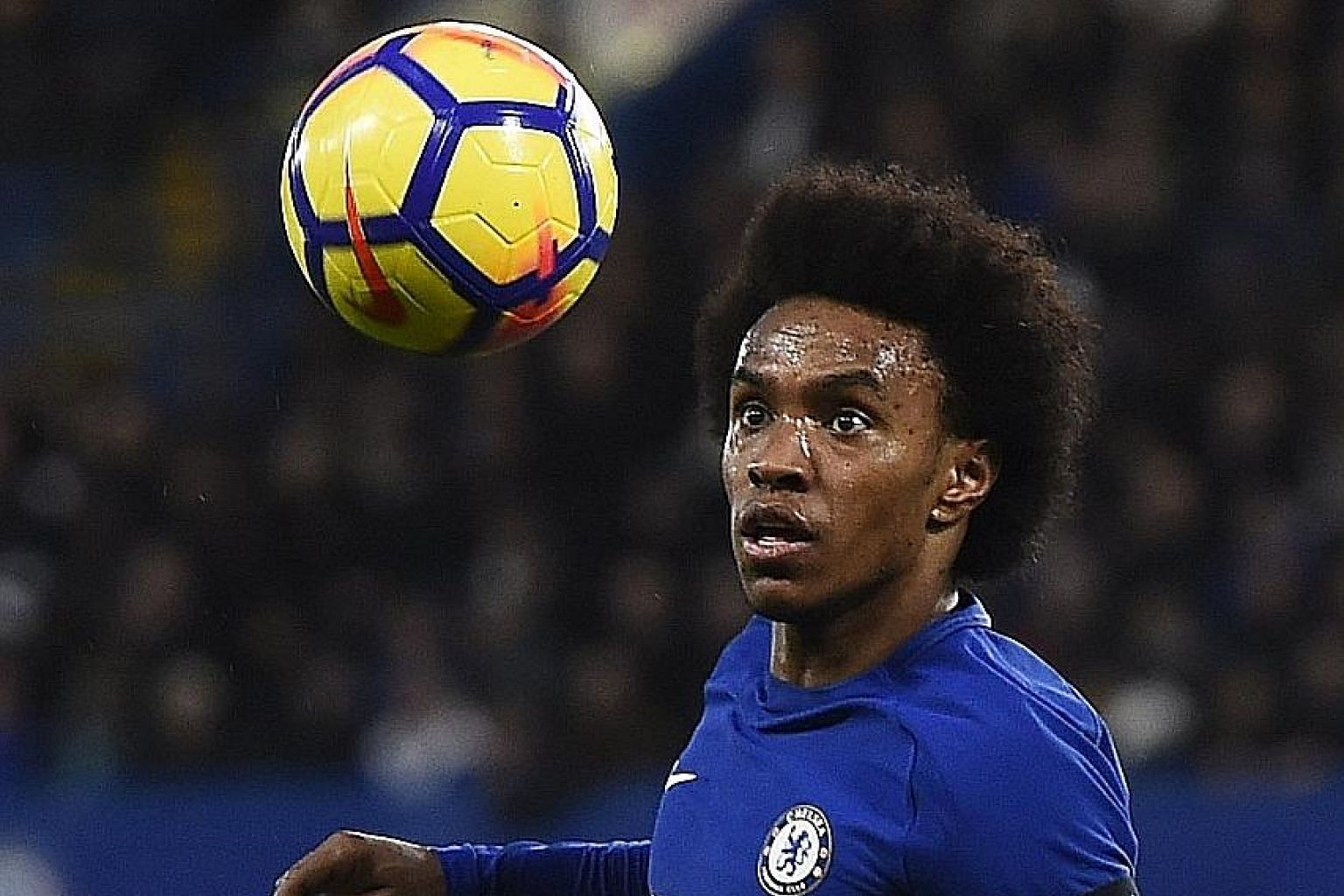 Chelsea's Willian in control in the game against Crystal Palace, in which he scored the opener and had a hand in the second.