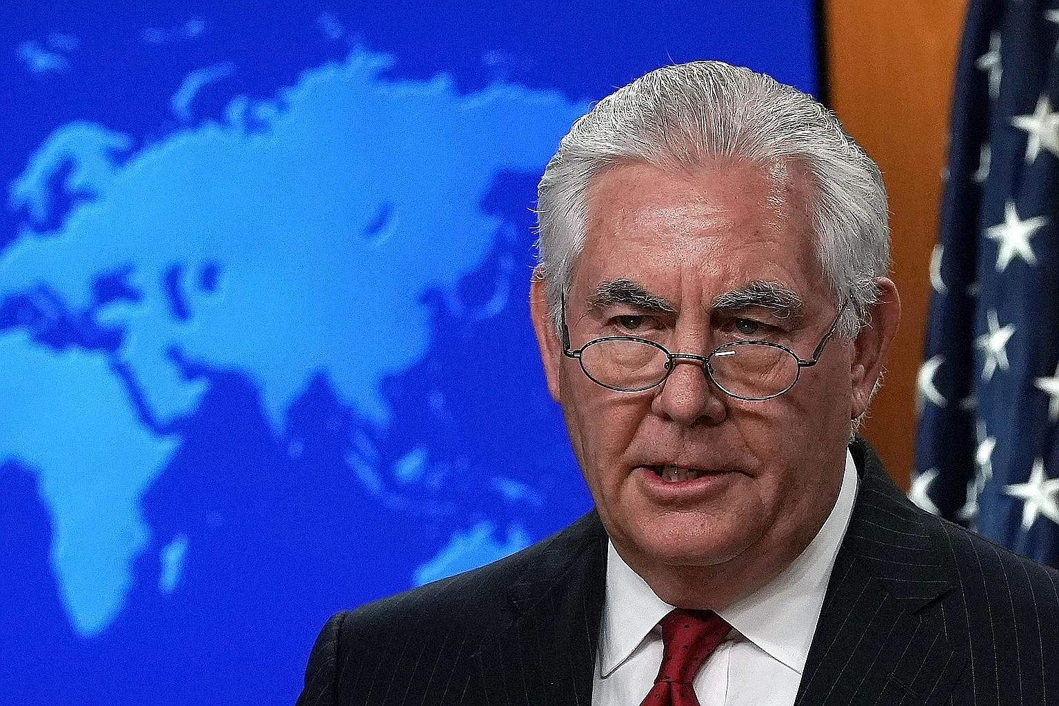 In his farewell remarks on Tuesday, outgoing US Secretary of State Rex Tillerson suggested that the prospect of talks with Mr Kim Jong Un was made possible by the hard work of his State Department and allies.