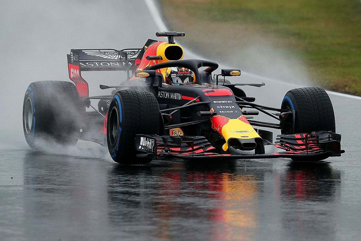 Red Bull's Daniel Ricciardo during testing in Barcelona last month. The Australian, who won once last year, in Azerbaijan, is tipped to give Mercedes a run for their money this year.