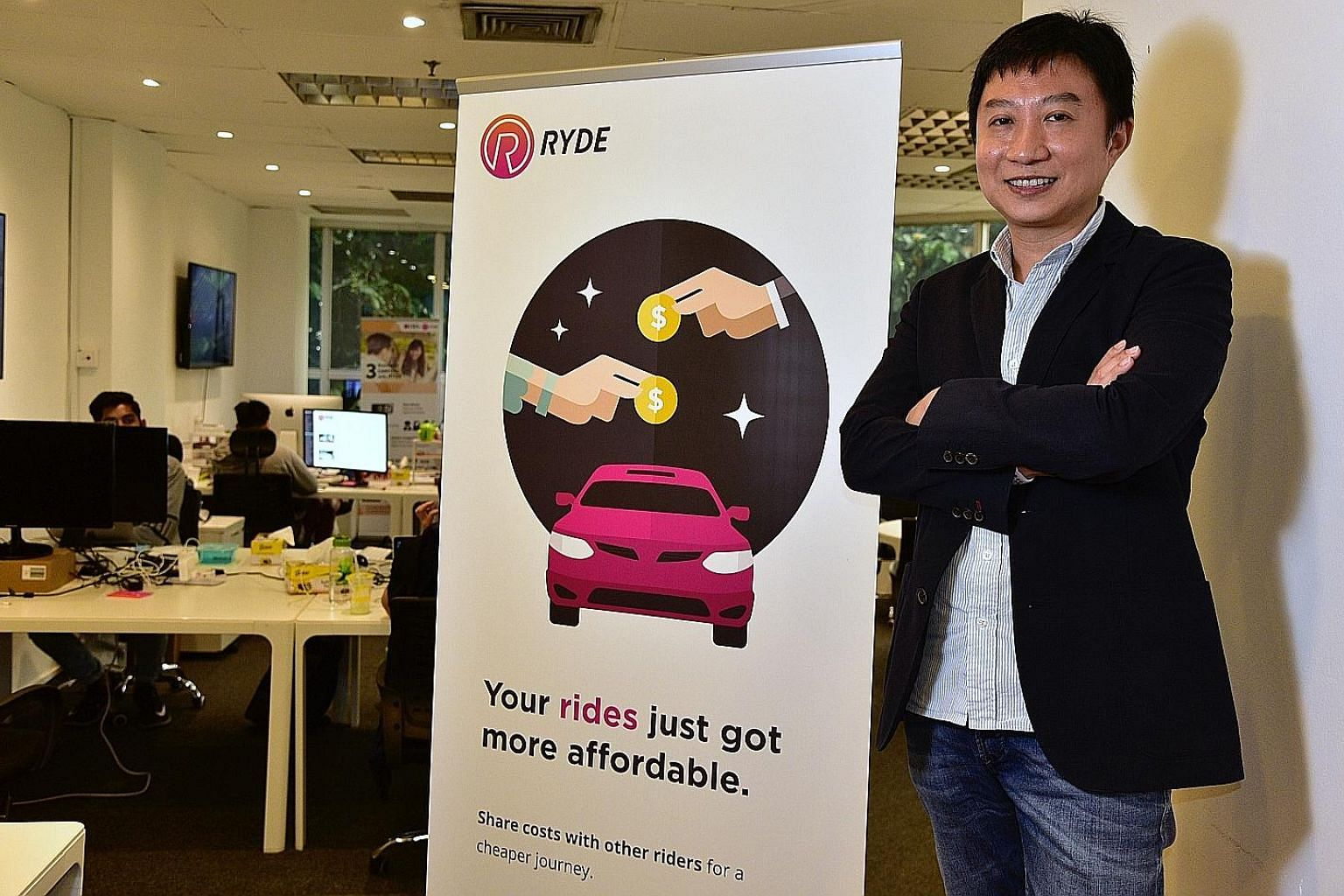 Ryde's CEO Terence Zou says drivers are already signing up with the service.