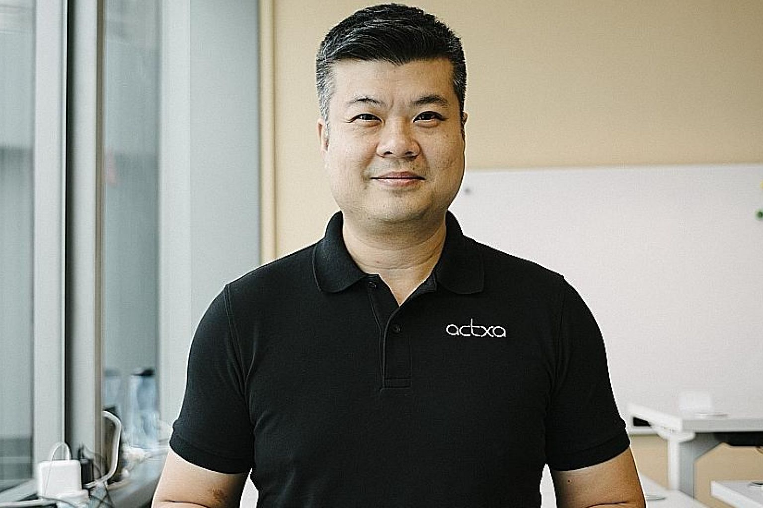 Local fitness wearables company Actxa, where Mr Lim Chun Hong is chief executive, saw its revenue leap 400 per cent last year compared to that for 2016.