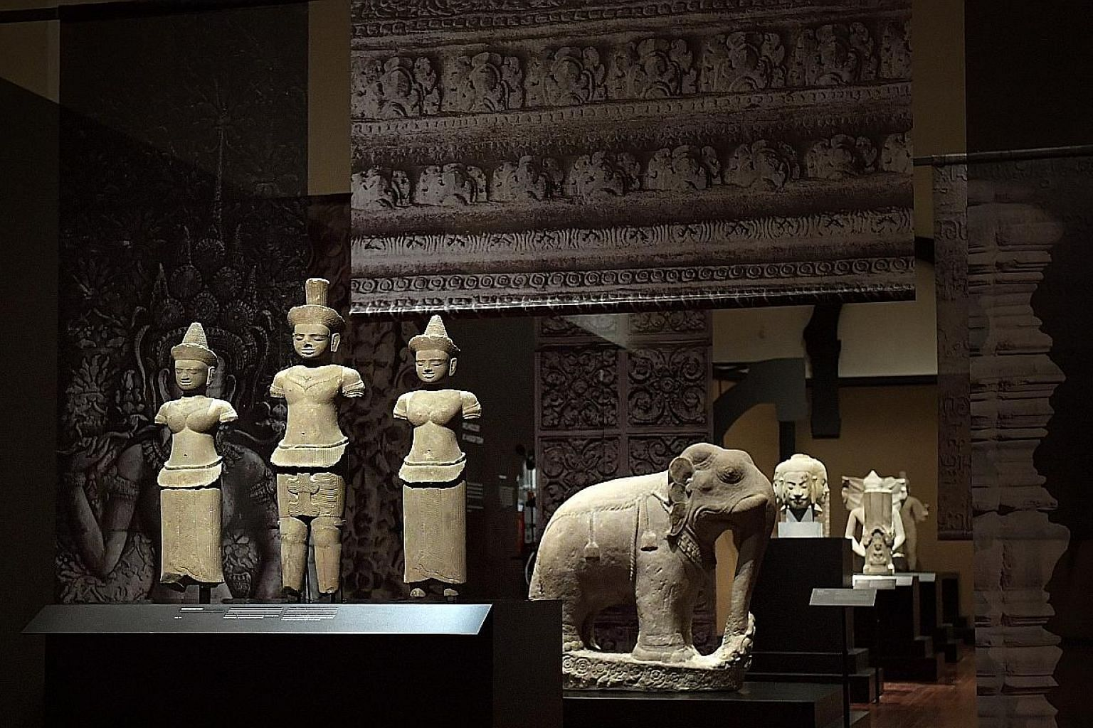 Many of the rubbings and plaster casts on display in the exhibition at the Asian Civilisations Museum are accurate reproductions of artworks that are now ruined.