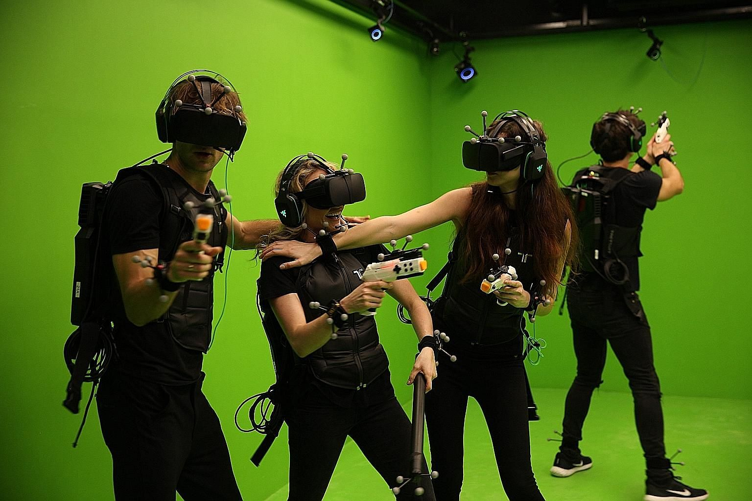 Hong Kong-based Sandbox VR (above) is the latest in Singapore to offer gamers a chance to immerse themselves in a virtual world.
