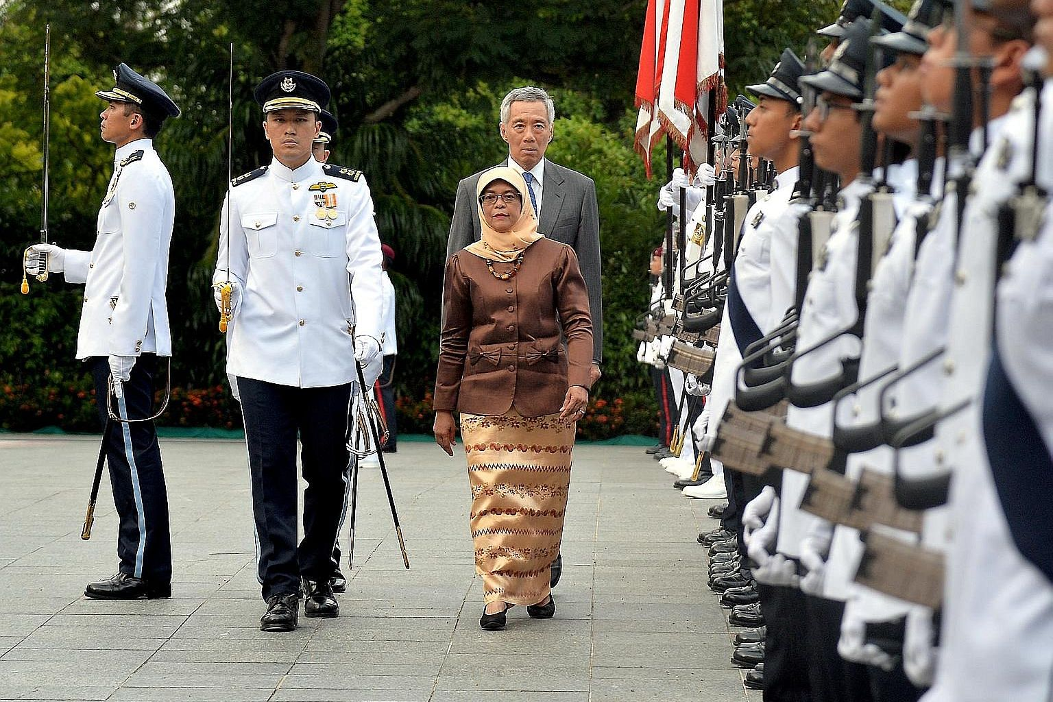 The first session of the 13th Parliament on January 2016 included constitutional changes to the elected presidency. President Halimah Yacob is the first president elected under the new rules.