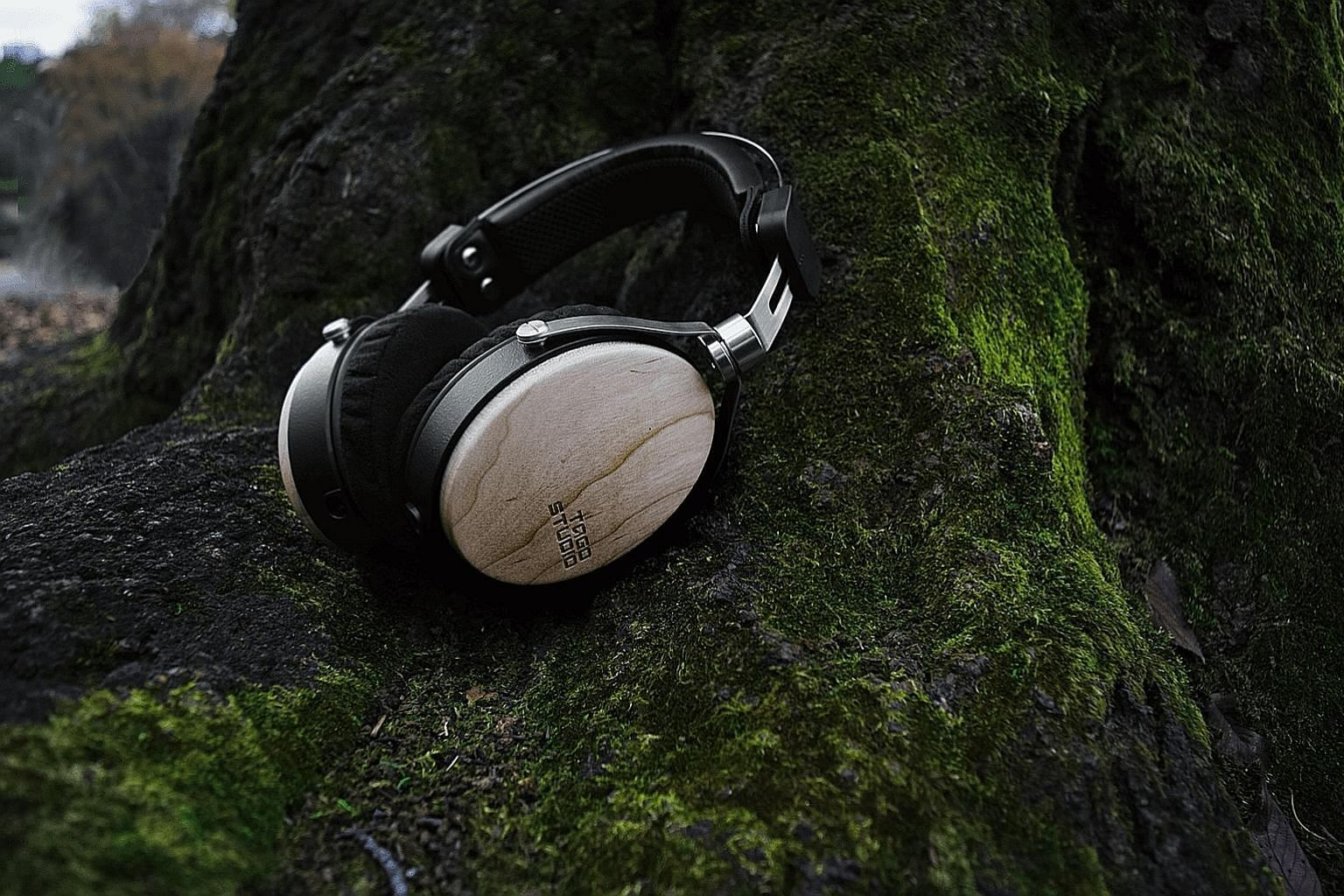 The wooden earcups let the headphones present a richer, more natural sound.