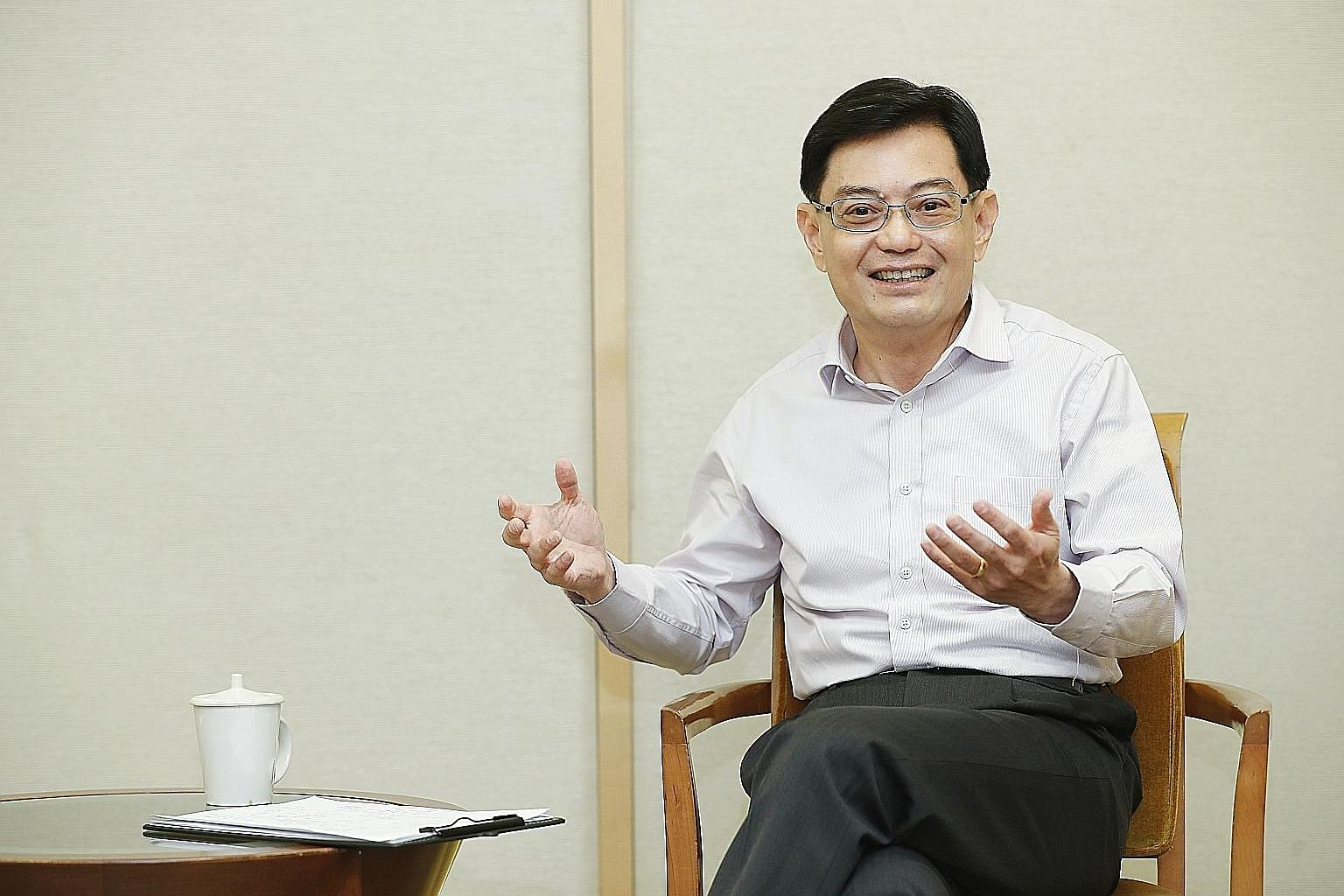 """Mr Heng Swee Keat stressed the importance of continuing to develop Singaporeans, adding that """"a well-calibrated inflow of foreign manpower"""" can complement the workforce."""