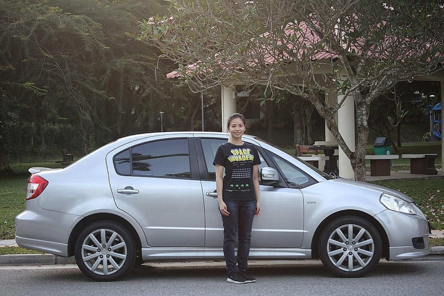 Despite her affinity for sophisticated technology, inventor-entrepreneur Olivia Seow Wen prefers a simple ride such as the Suzuki SX4.