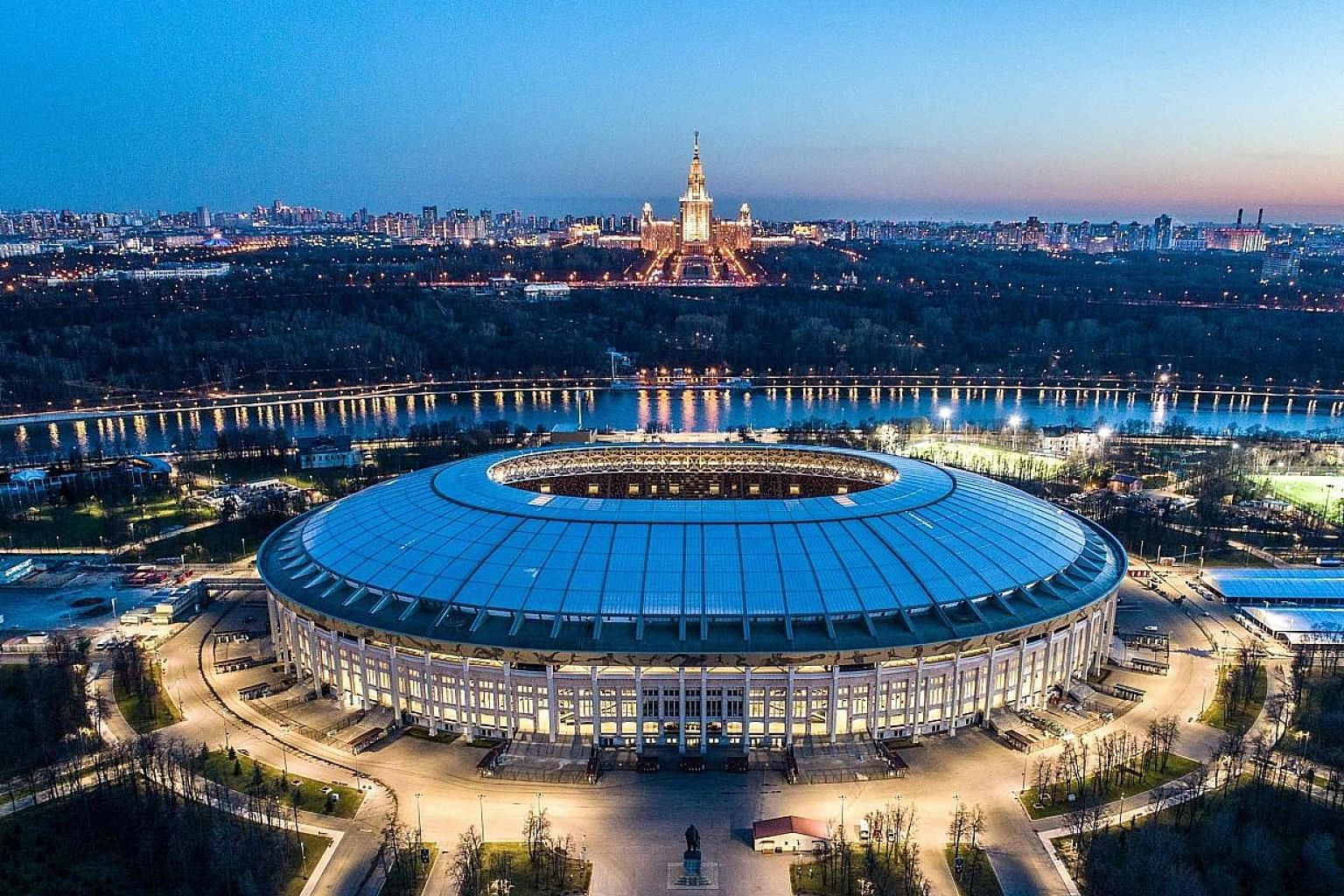 The World Cup final will take place on July 15 at the Luzhniki Stadium (left) in Moscow. Singaporeans will be able to enjoy nine key matches - the opener, five group games, both semi-finals and the final - on free-to-air television with Mediacorp, fi