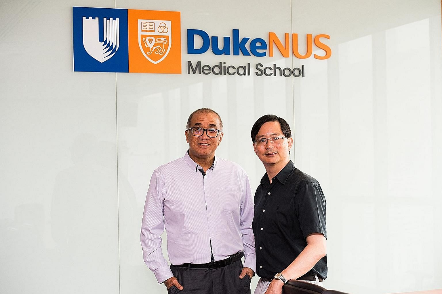 Duke-NUS Medical School professors Teh Bin Tean (far left) and Patrick Tan are part of the team, which also included scientists from Japan, Taiwan and Thailand. They found that many Asian cancers could be linked to specific exposures and environmenta