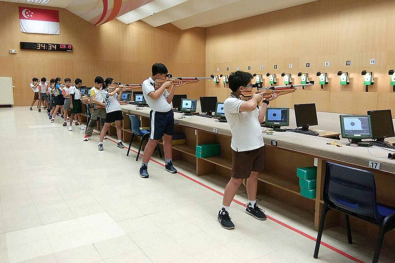 Aspiring shooters from Primary 5 and 6 are part of the long-range vision of the Singapore Sports School's Learn-To-Shoot programme.