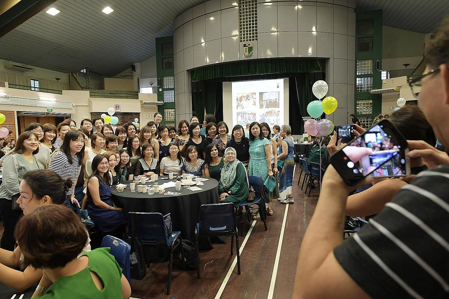 Over 420 former students and teachers gathered for the Evergreen lunch. Next year, the school moves to Braddell Road.