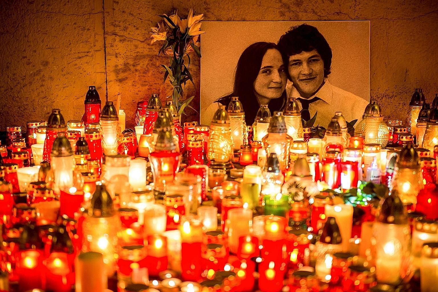 Slovakian journalist Jan Kuciak and his fiancee were shot dead in their home about two months ago, apparently by local mafia.