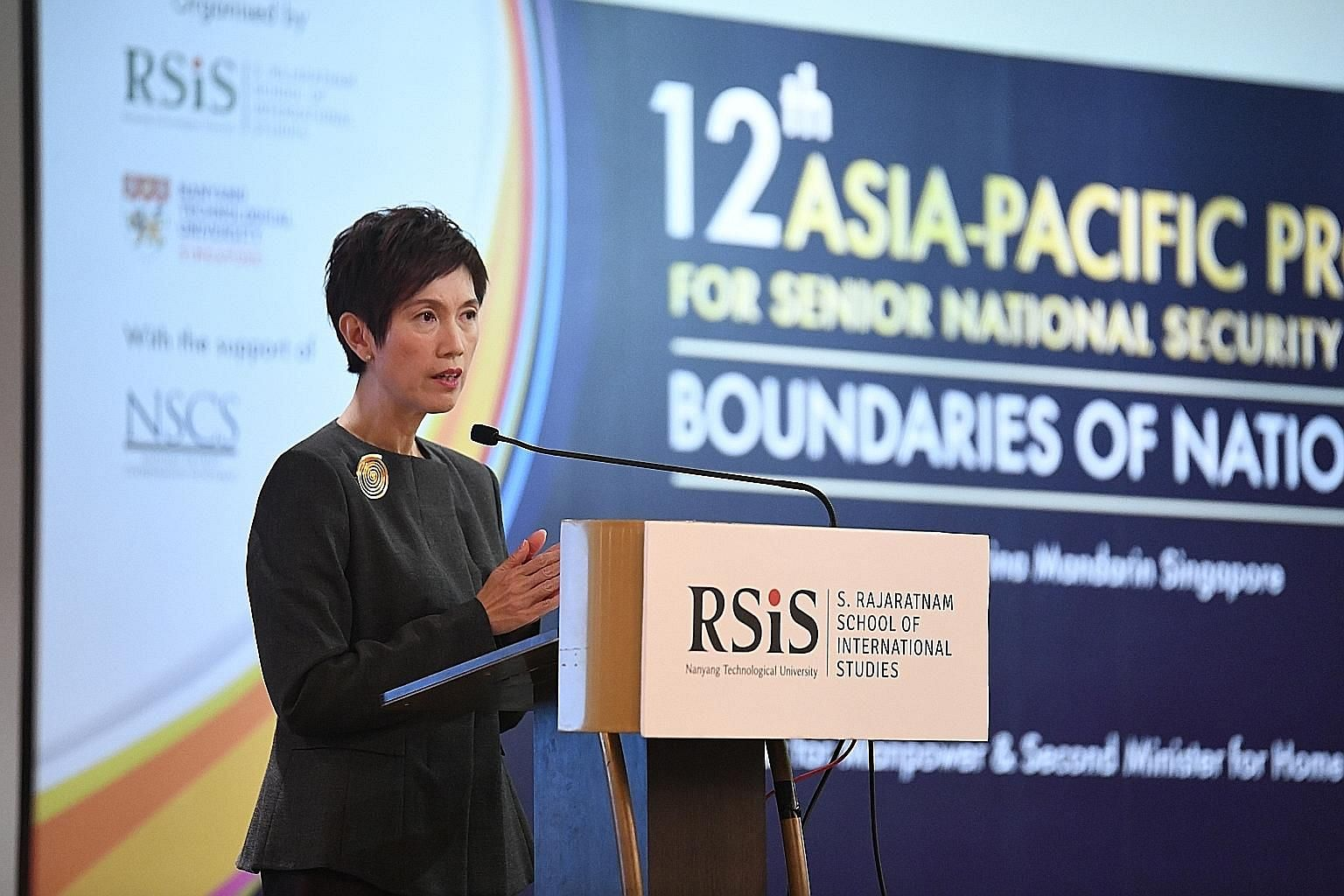"""The community has a role to play, to enlarge the common social space, and foster mutual understanding and trust,"" said Mrs Teo. Business and technology firms can also help to boost cyber security and to prevent the spread of falsehoods and hate spee"