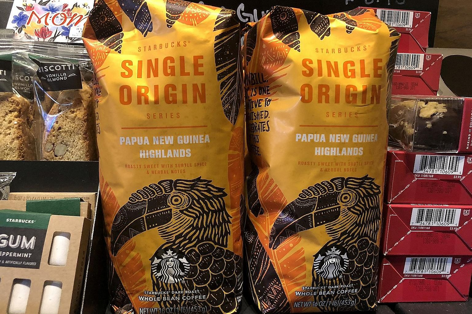 Starbucks coffee packs on sale in New York. Nestle and Starbucks are joining forces in a highly fragmented consumer drinks category.