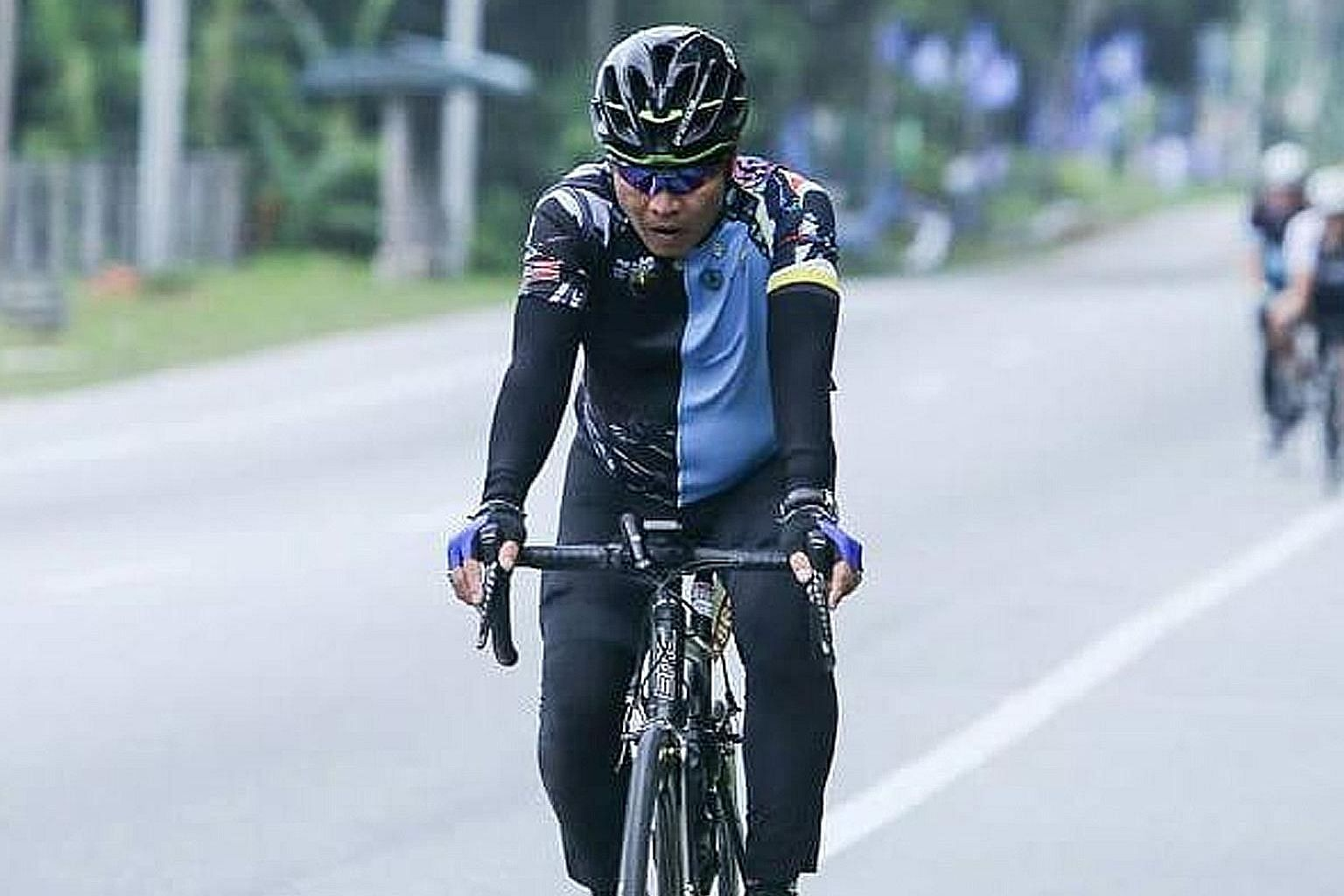 Mr Abdul Samat Ismail had gone to Ipoh to take part in a race on Sunday with about 20 other Singaporean cyclists. He was last seen at 1.45pm at a water station 24km from the finish line.