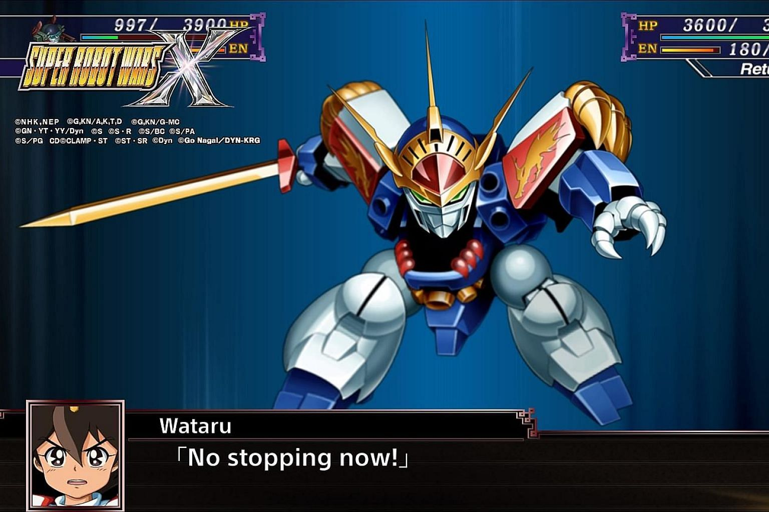 Players feel like they are in an interactive manga in Super Robot Wars X.