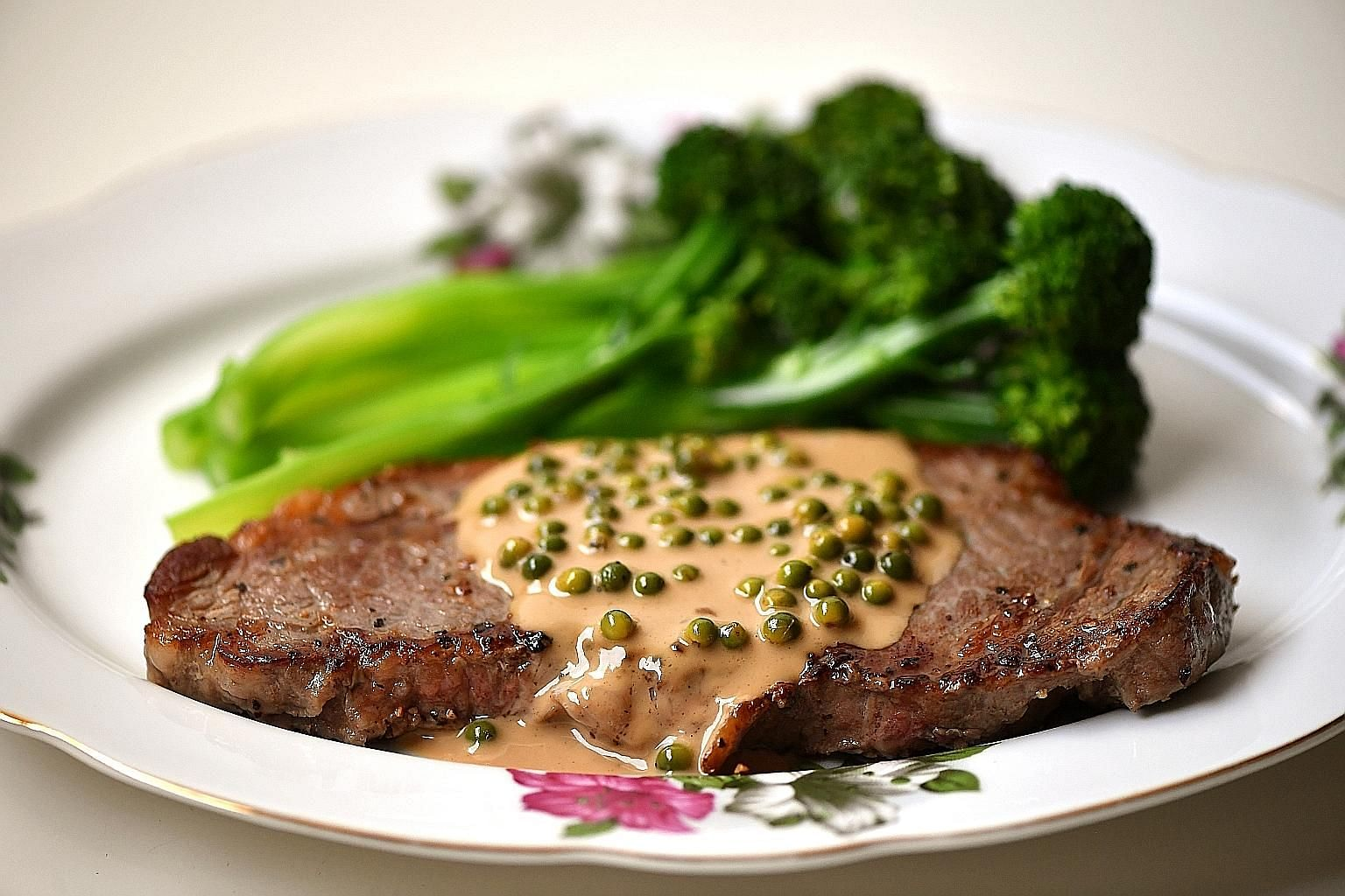 Steak sauce with green peppercorns is easy to make and rewarding.