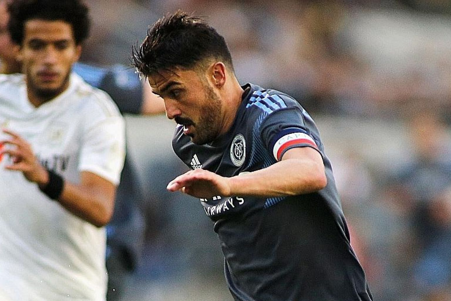 David Villa, seen here in action for New York City FC this month, has scored nine World Cup goals for Spain in 21 games. He was also a member of the Spanish side that won the 2010 World Cup.