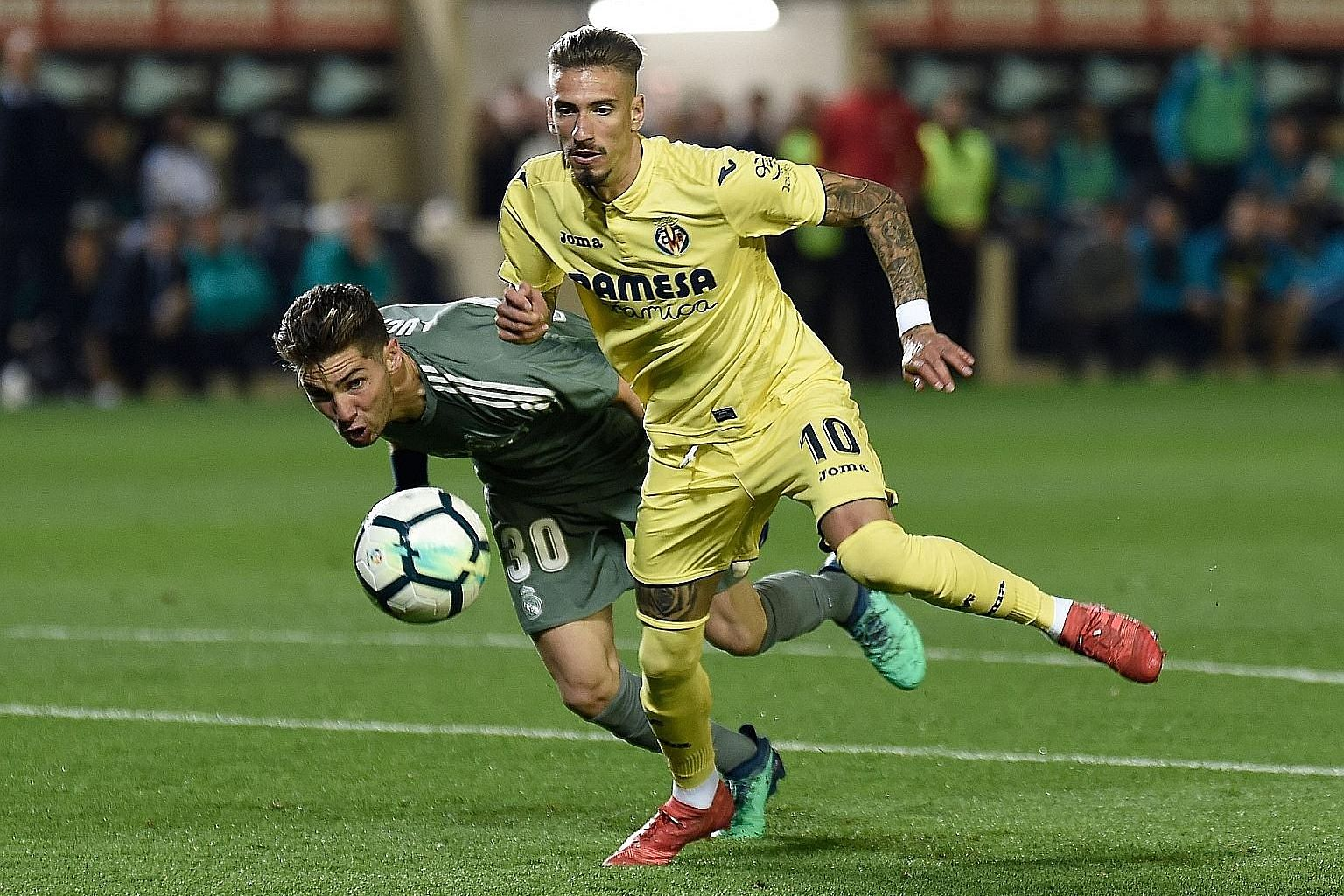 It was a proud moment for Real goalkeeper Luca Zidane Fernandez on his debut but the coach's son misjudged a long ball into the path of Villarreal midfielder Samu Castillejo, who dribbled past him to equalise in the 2-2 draw in their final match of t