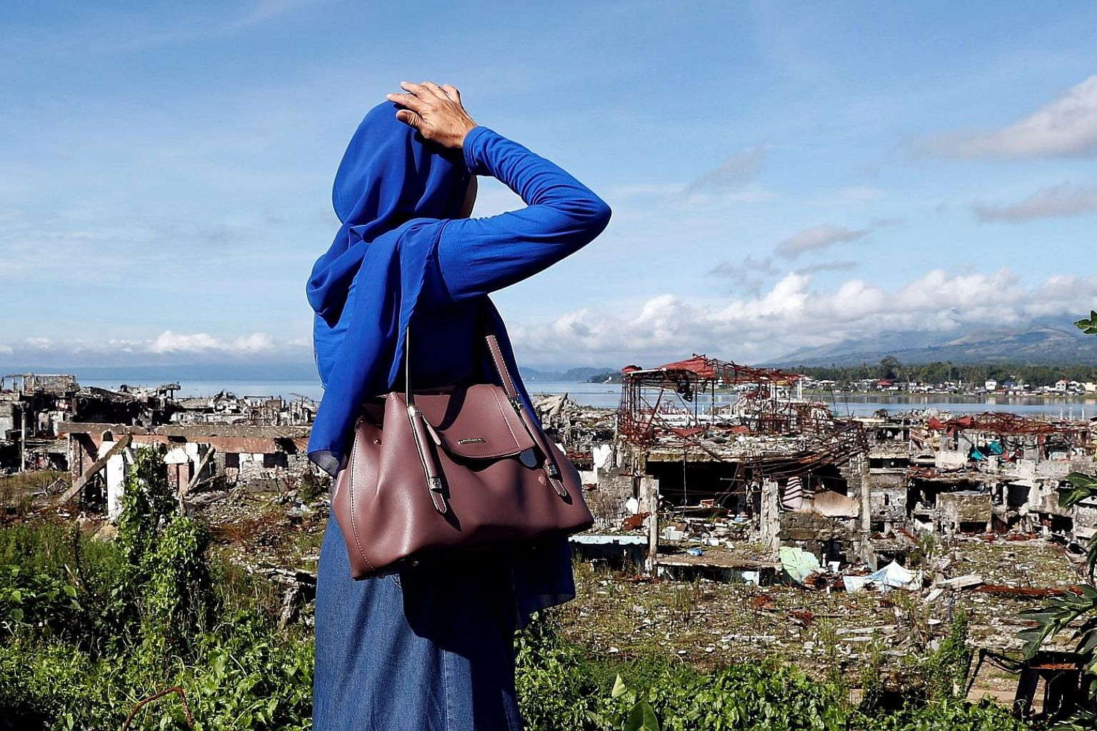 A view of ruined houses in Marawi City, one year after the Maute Group launched an attack on the Philippine city. A consortium composed of five Chinese firms and four Filipino partner companies has submitted a master plan for rebuilding the conflict-