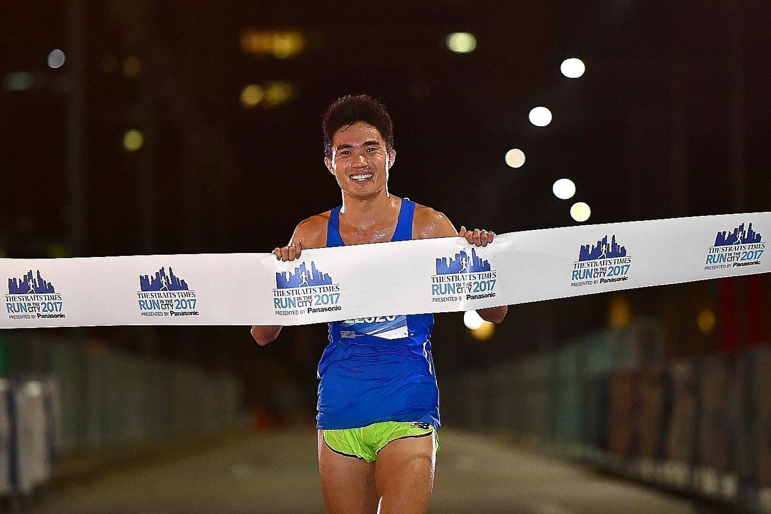 Mok Ying Ren finishing third at The Straits Times Run in the City 2017 in 1hr 4min 15sec in the 18.45km event. Singapore's two-time SEA Games gold medallist will helm the training programme for the second year running.