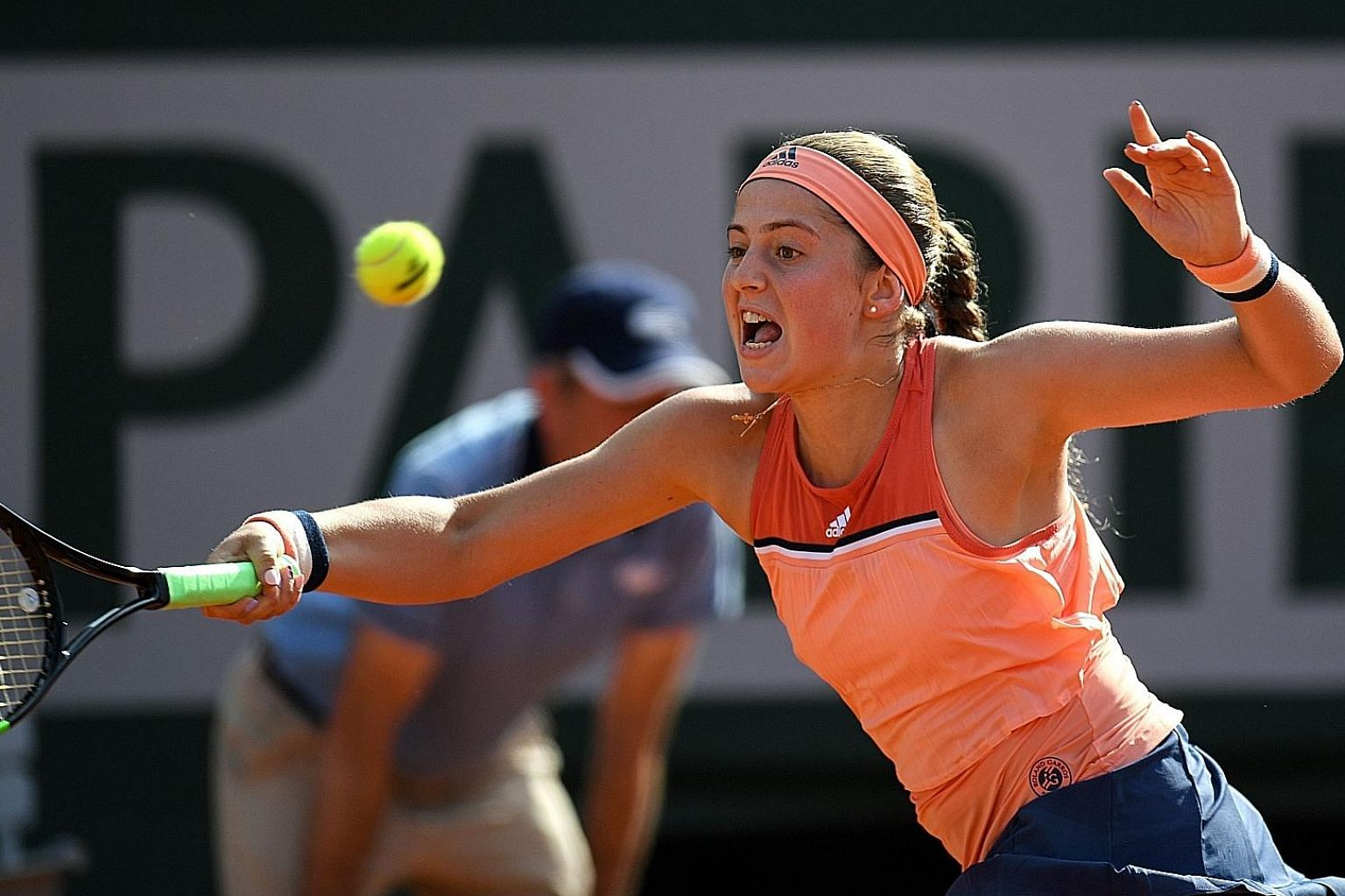 Latvia's Jelena Ostapenko was beaten for the third time in as many meetings by Ukraine's Kateryna Kozlova. That meant she was the first French Open women's title holder in 13 years to lose in the opening round.