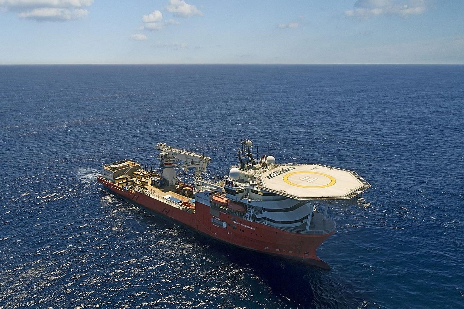 US seabed exploration firm Ocean Infinity's multi-purpose offshore vessel Seabed Constructor had been scouring the southern Indian Ocean for the missing Malaysia Airlines aircraft since January, covering more than 112,000 sq km of ocean floor in a li