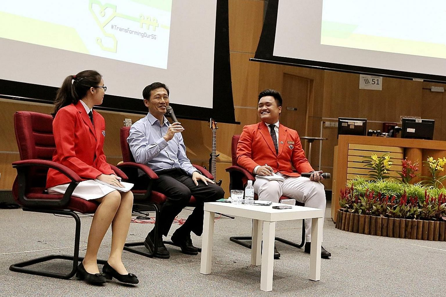 Education Minister Ong Ye Kung at the opening ceremony of the pre-university seminar at Nanyang Technological University.