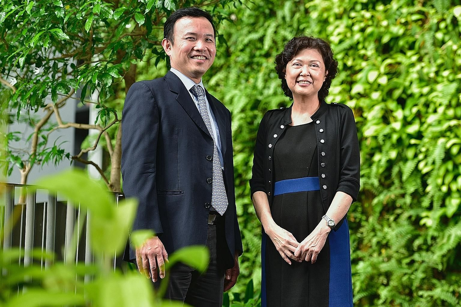 Professor William Hwang of SGH with Ms Judith Chew, the first patient in Asia to receive a transplant with the new technique.