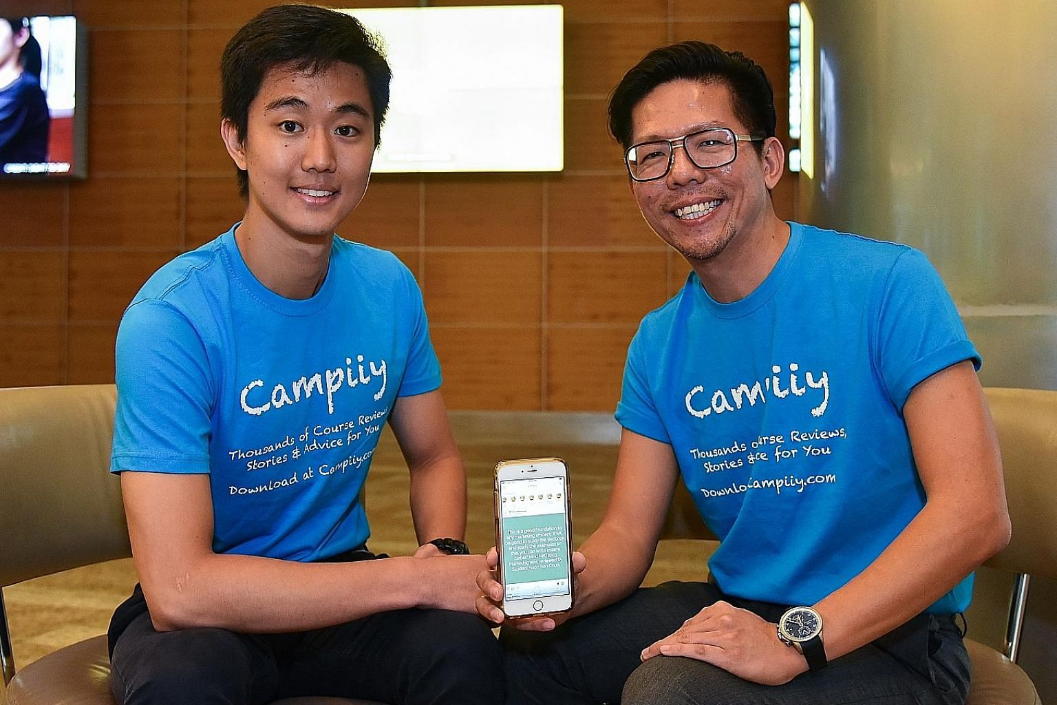Campiiy CEO Chun Soon Kon and founder Joshua Koh aim to have the social networking app, which for now covers Singapore Management University and National University of Singapore, available to students in other local universities as well as foreign ca