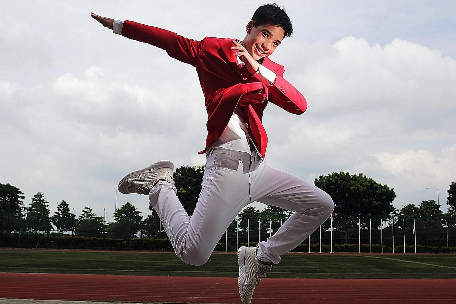 Track and field gave Tertius Zhuo an avenue to build his confidence. He is grateful for the scholarship as it partly eases his single father's expenses in raising four children.