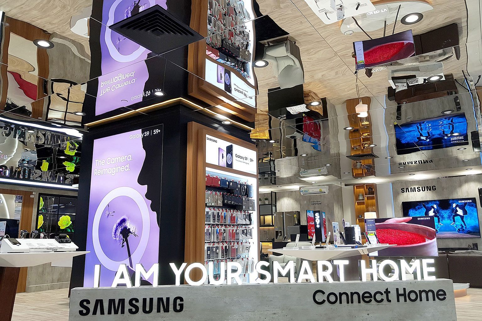 The Samsung Smart Home Experience space at Ngee Ann City is about the size of a five-room Housing Board flat.