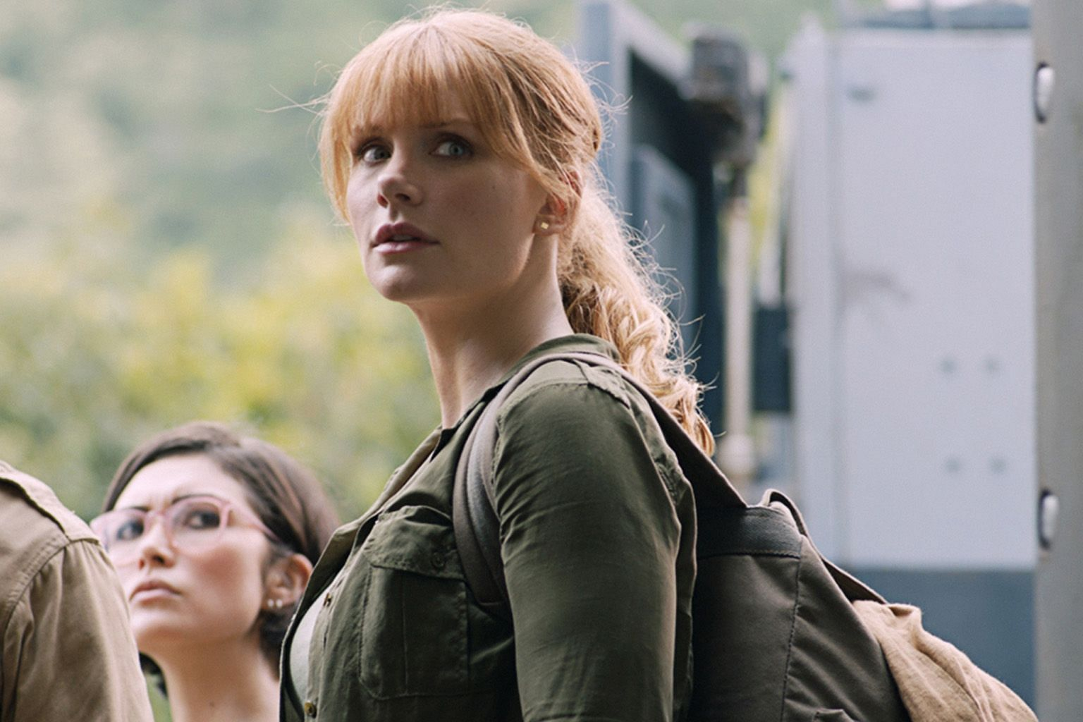 Former theme-park manager Claire (Bryce Dallas Howard) forms a team to save the dinosaurs from an erupting volcano in Jurassic World: Fallen Kingdom.