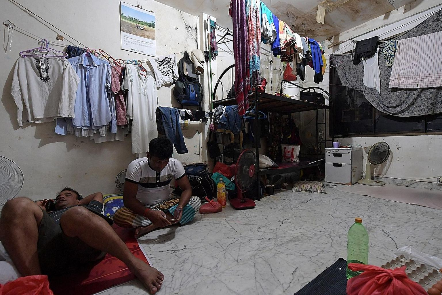 According to a study done in collaboration with non-profit organisation HealthServe, eight out of 10 migrant workers under stress in Singapore are from Bangladesh. In contrast, one out of 10 from China and India say they are under similar stress.