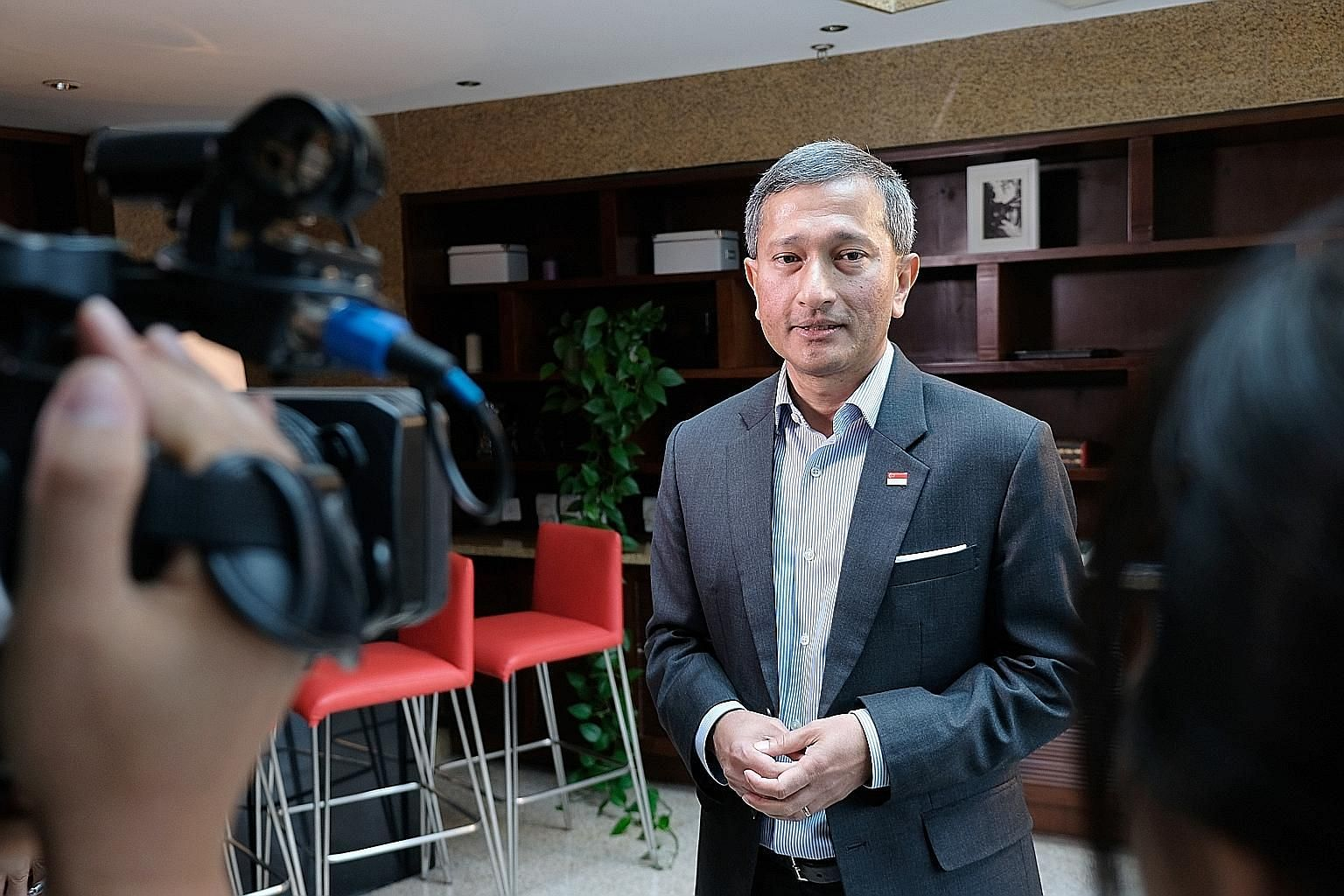 """Foreign Minister Vivian Balakrishnan says some have called the upcoming summit an """"incredible branding opportunity"""" for Singapore."""