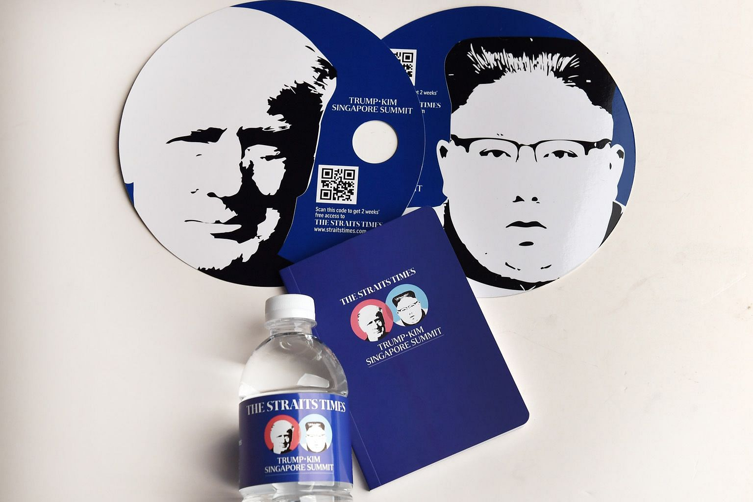 The Straits Times produced customised items, such as a fan, a notebook and bottled water, for the summit.