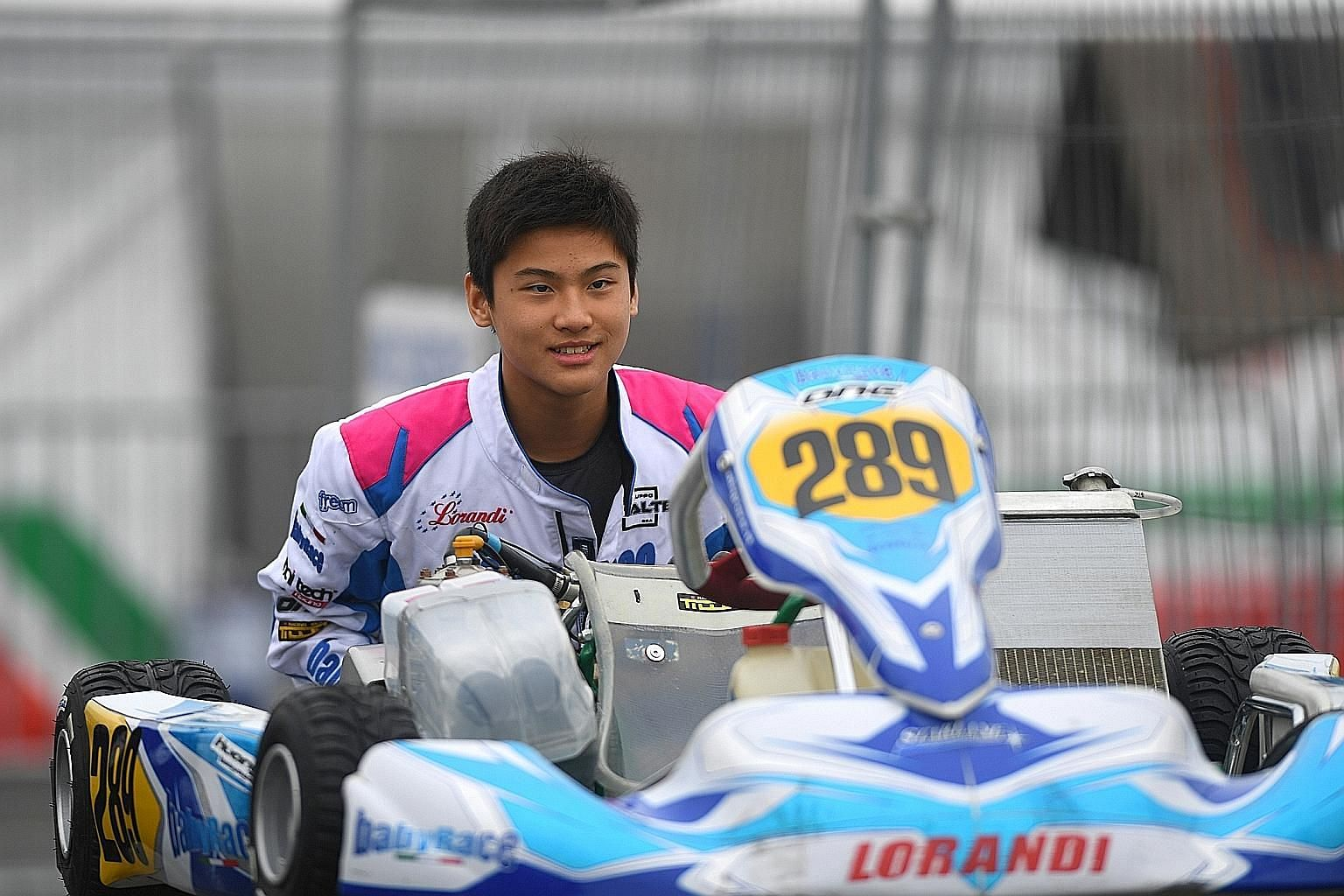 Alex Huang races nearly every weekend, saying that a disciplined lifestyle has helped him perform better in competitions.