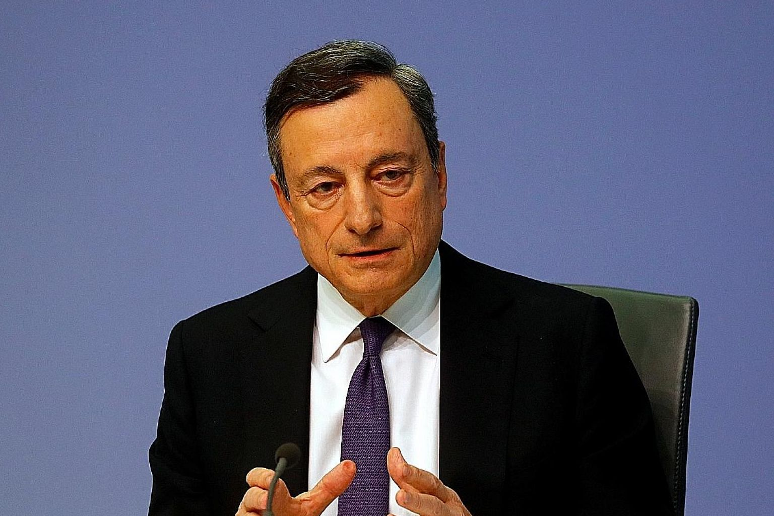 ECB president Mario Draghi is expected to announce today an end to the institution's asset-purchase programme.
