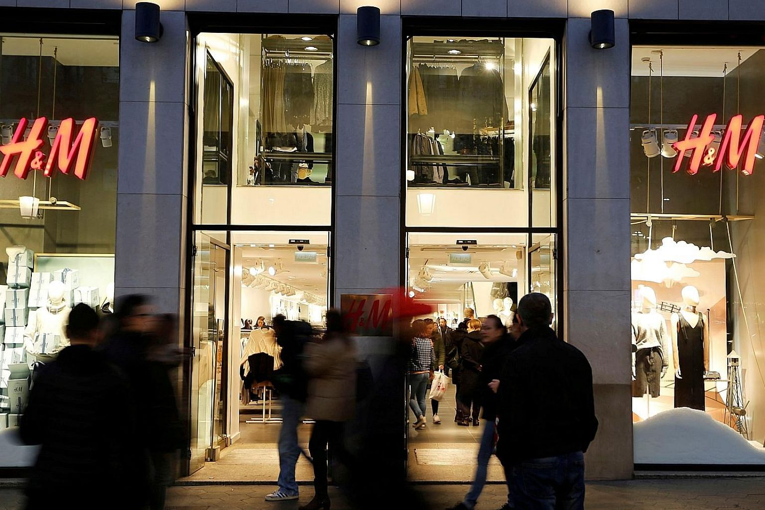 H&M (above) has struggled to keep up with competitors after fashion mistakes and delivery hiccups made customers turn elsewhere, resulting in a record level of inventory at the end of the first quarter. The clothing retailer's target is 220 net store addi