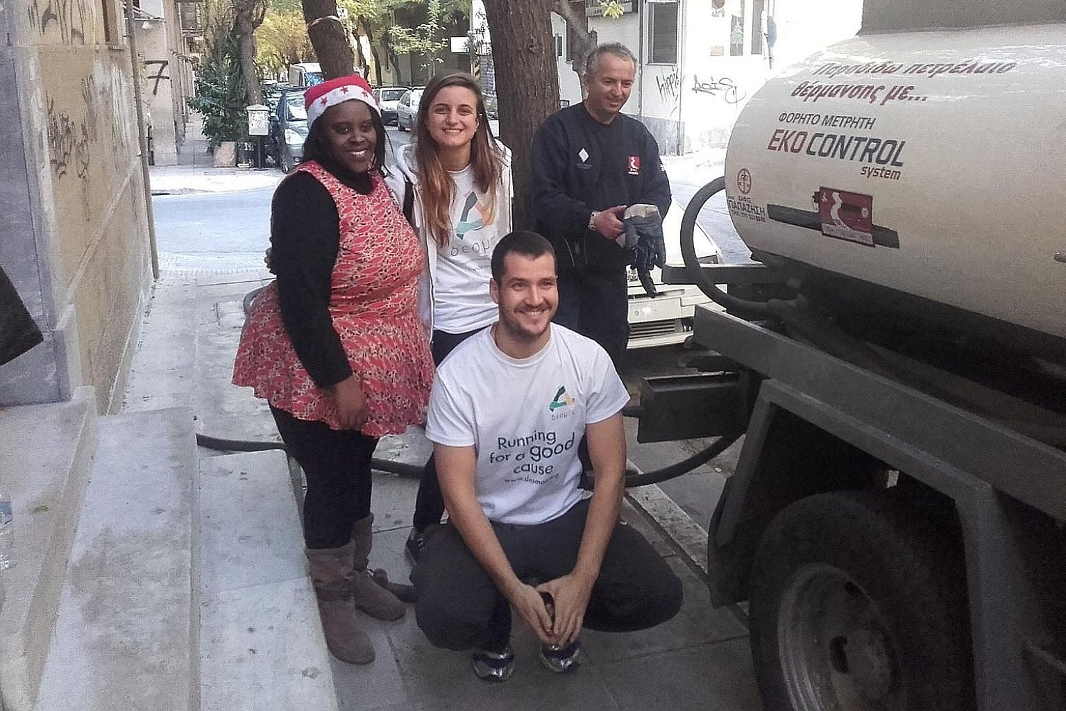 """Through the """"Desmos Gives Warmth"""" programme, the organisation supports charities across Greece to remain warm and keep operating during winter by supplying them heating oil. """"I Care and Act"""" is a Desmos programme through which students across Greece"""