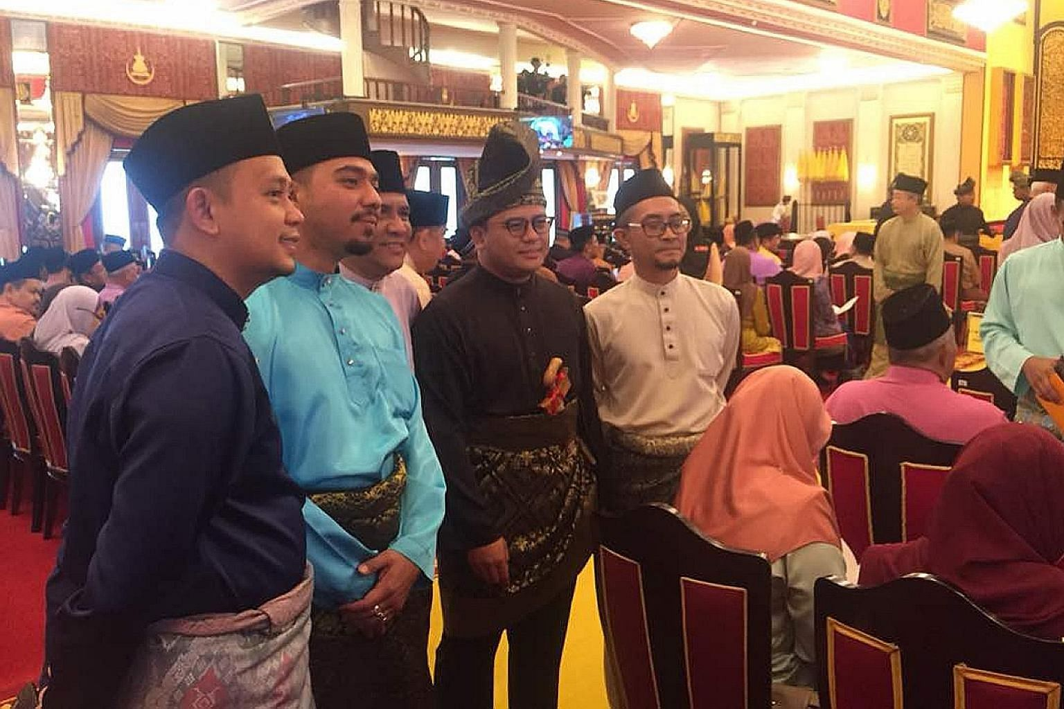 Mr Amirudin Shari (second from right), who counts Parti Keadilan Rakyat deputy president Azmin Ali as his mentor, was sworn in as Selangor's new chief minister despite intense lobbying for another candidate by those aligned to the party's de facto le