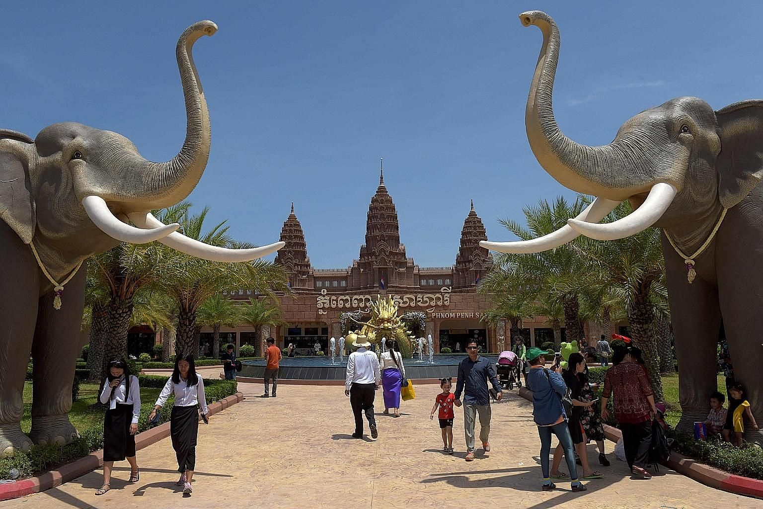 Phnom Penh Safari, the first major zoo in Cambodia's capital, opened to visitors yesterday. Prime Minister Hun Sen took a brief break from preparations for next month's elections to attend the inauguration ceremony of the US$9 million (S$12.2 milli