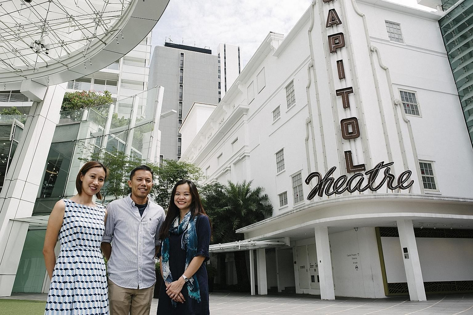 From far left: Senior research analyst Paveena Seah; Dr Leong Chan-Hoong, head of the Institute of Policy Studies' Social Lab; and senior research fellow Natalie Pang. The researchers hope the study's findings can better equip policymakers in their a
