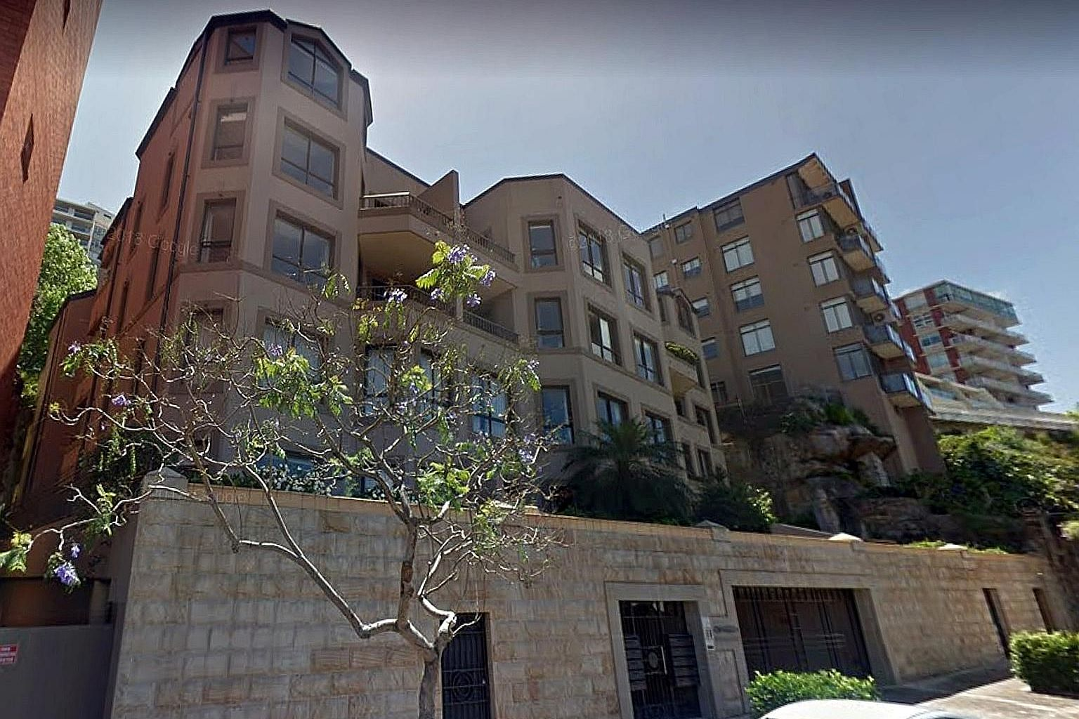 Searches revealed that Mr Wang Zhi Cai owned a condo unit in Kirribilli (above), New South Wales, but attempts to serve the papers on him there failed. The Australian court has allowed MBS to send notice of the Singapore judgment to his known home an