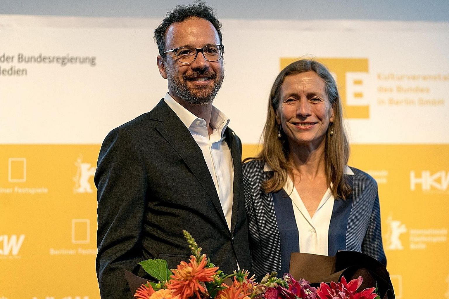 Mr Carlo Chatrian will be the artistic director of the 2020 Berlin Film Festival, while Ms Mariette Rissenbeek will be its managing director.