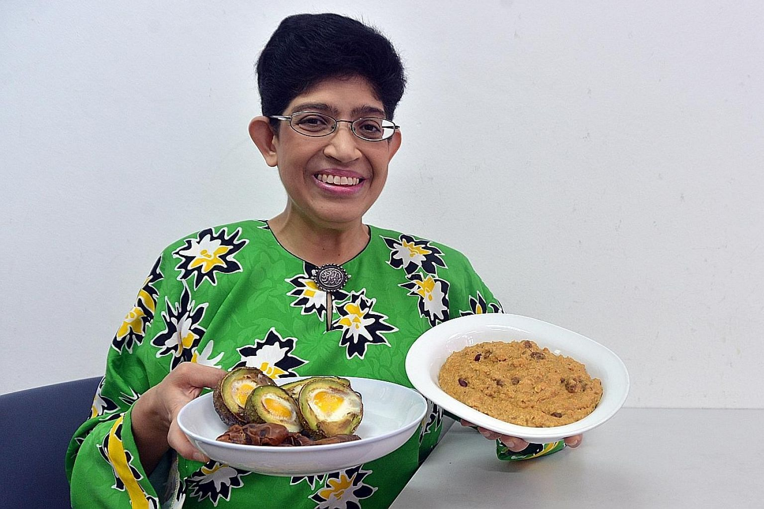 Among the dishes Associate Professor Fatimah Lateef came up with are baked avocado with egg (far left) and spicy oat porridge.