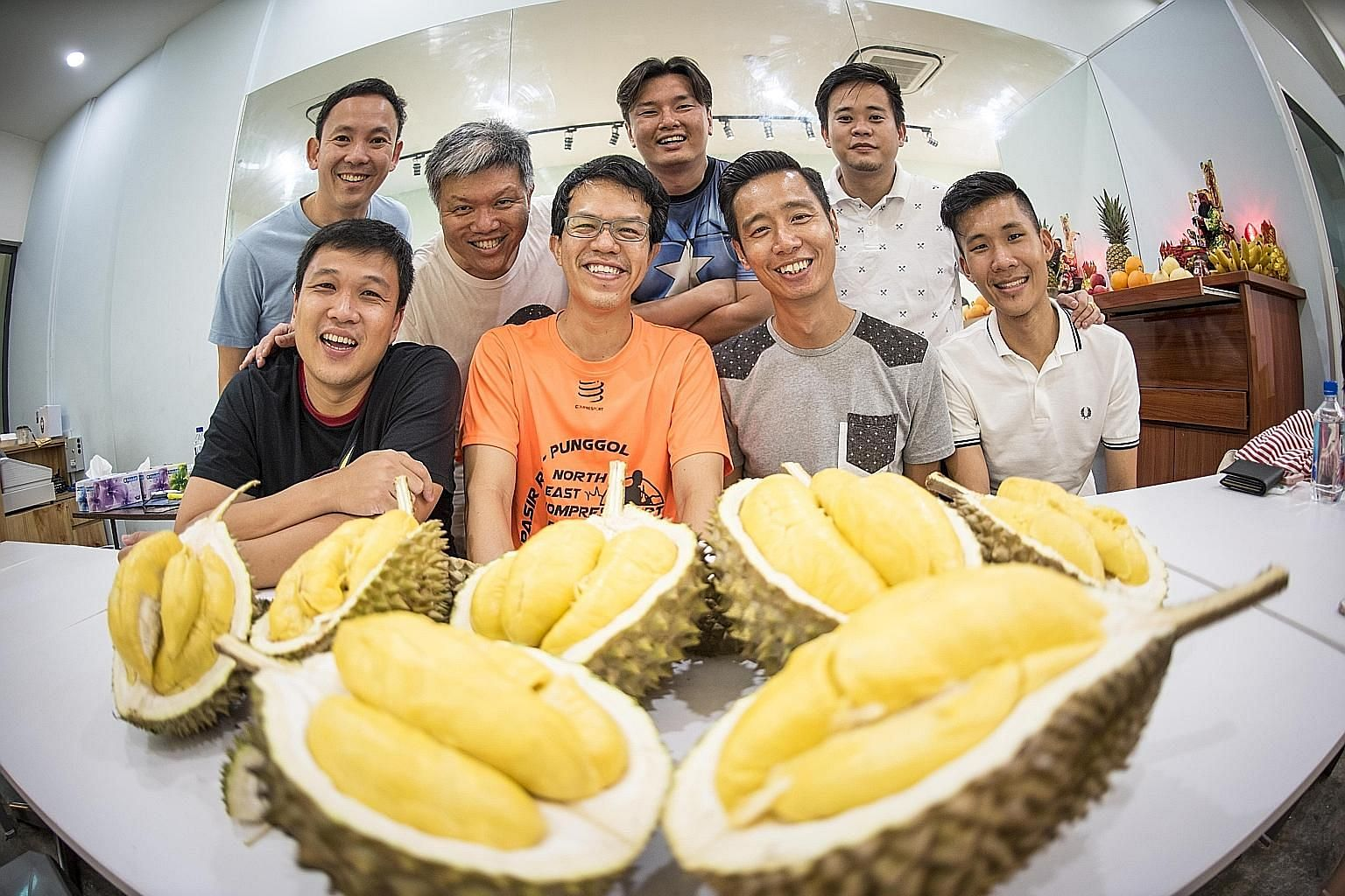 (Clockwise from top left) Centre for Fathering chief executive officer Bryan Tan and other Daddy Matters members David Sim, Winston Tay, Frederick Tang, Pan Quanfu, Isaiah Kuan, Andy Lee and Kelvin Ang at one of the Facebook group's meet-ups last yea