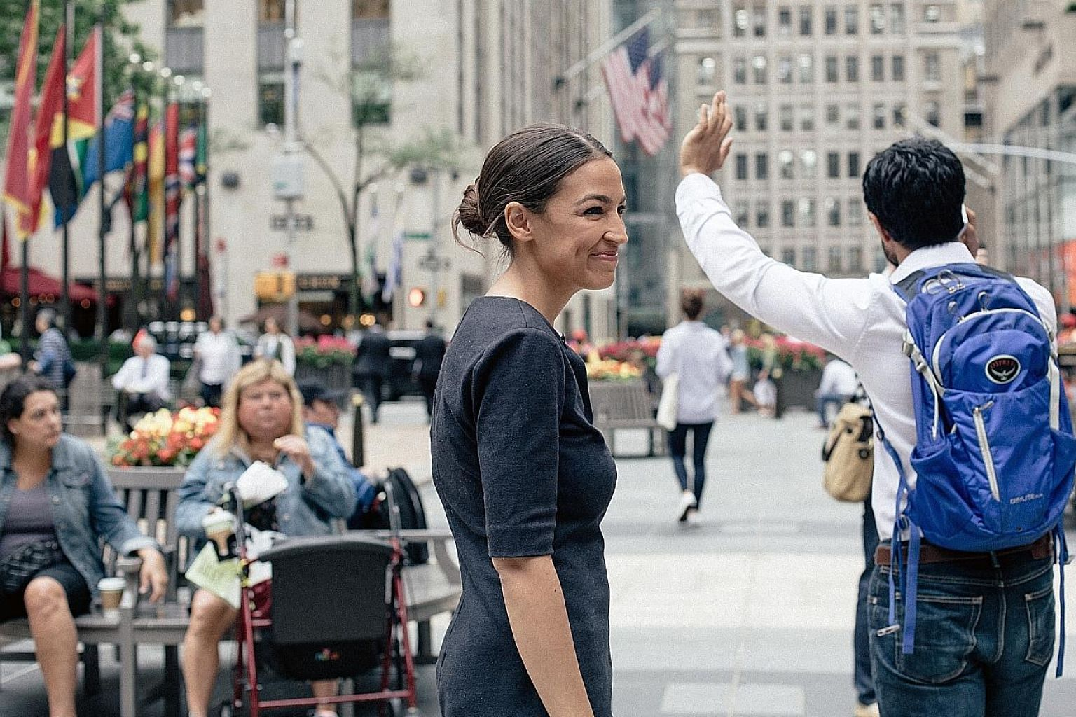 Ms Alexandria Ocasio-Cortez's resume up to now included waitress, children's book publisher, community activist, member of the Democratic Socialists of America and former Bernie Sanders campaign organiser. She studied in Boston University and majored